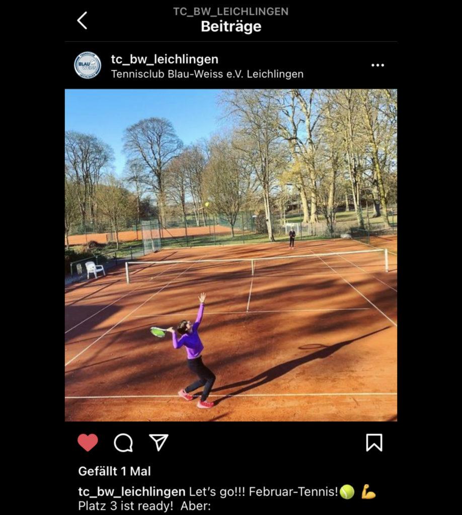 TC Blau-Weiss Leichlingen goes Instagram